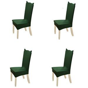 4-Pack Kitchen Dining Chair Cover Slipcover Green